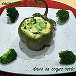 recette Flan courgette & brocoli dans sa coque verte