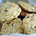 recette ~Biscuits aux grains de chocolat et au miel~