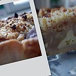 recette Tarte aux pommes façon crumble au pain d'épices