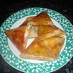 recette briks de crevette ,poulet mozza