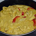 wok party : recette Poulet Au Curry Jaune Et A L'Ananas