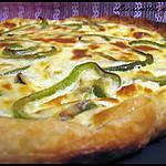 recette Quiche au thon, féta & poivron vert