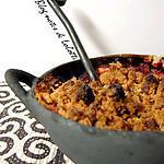 recette Crumble croustillant pommes, framboises aux amandes et aux flocons de riz