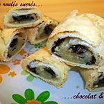 recette Petits roulés sucrés chocolat & noix