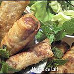 recette Nems Porc et Crevette