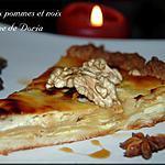 recette tarte aux pommes et noix