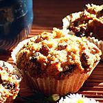 recette Muffins Banane - Chocolat - Struesel