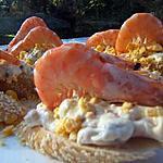 recette Pintxos salade russe & crevettes