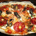 recette Pizza espagnol (paëlla)