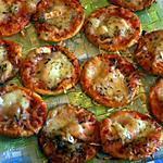 recette Mes mini's Pizza Mozza/Chevre/ Saumon