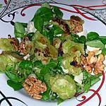 recette Salade de mâche aux ravioles, picodon et noix