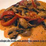 recette escalope de veaux aux poivrons sauce crème