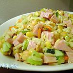 recette ~Salade de pois chiches et jambon~