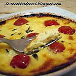 recette Crème brulée aux tomates cerises et au jambon  fumé