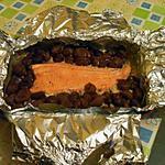 recette Filet de Truite en Papillote sur Lit d'Oignons Crem'Cannelle aux Marrons