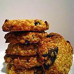 recette Cookies aux abricots et aux pruneaux