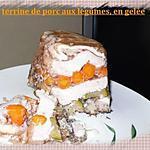 recette terrine de porc aux légumes,en gelée