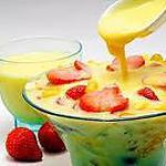 recette Dessert facile fruits + crème custard