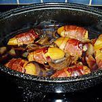 recette pommes de terre enrobées de tranches de poitrine fumé