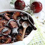 recette Clafoutis aux prunes et chocolat