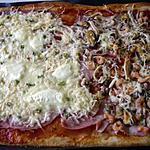 recette PIZZA AUX FRUITS DE MER ET FROMAGES