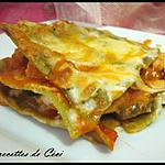 recette Lasagnes au poulet et 2 poivrons, gratinées aux 4 fromages