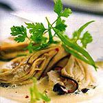 recette Salade d'huîtres au thé vert