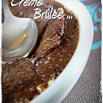 recette CREME BRULEE AU CHOCOLAT NOIR recette de PIERRE HERME