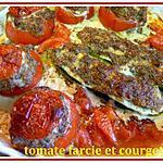 recette tomates farcies et courgettes