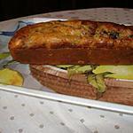recette CAKE AUX PRUNEAUX ET LARDONS AVEC SA TERRINE DE LEGUMES