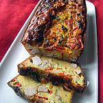 recette Cake poulet-poivrons régime