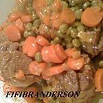 recette plat de viande aux carottes et petits pois