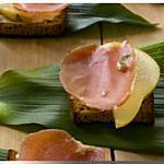 recette Tarte au Boursin, jambon cru, poires
