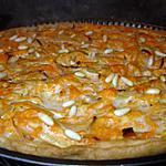 recette Tarte oignons & courge confite aux pignons