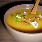 recette Soupe de Courge aux Noix Grillées & au Bleu