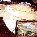 recette gateau chocolat poire