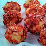 recette truffes blanches au croquant de caramel