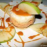 recette Duo de mousse caramel au beurre salé et pomme granny