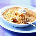 recette CRUMBLE au Poire, pomme, spéculos avec sa sauce au caramel