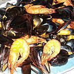 recette Moules Crevettes à l'Oriental