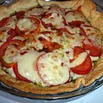 recette Tarte au pesto, à la tomate et mozzarelle