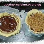 recette Tartelette crumble praliné Nutella