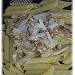 recette pâte aux poireaux et lardons