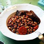 recette rôti de porc aux haricots blancs et aux pois chiches, façon harira