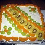 recette Gâteau aux mandarines et kiwis