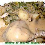 recette compoté de chou au poulet