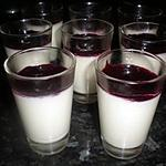 recette verrines panna cotta aux fruits rouges