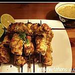 recette Brochettes de poulet & sauce satay
