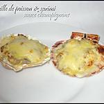 recette Coquilles de poisson& surimi