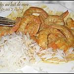recette Crevettes au lait de coco & au 2 curry